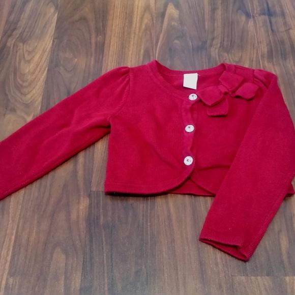 Cardigan Baby Girls Red Bow Bolero